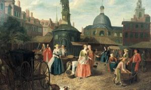 The Old Stocks Market, Joseph van Aken (c.1699–1749), Bank of England