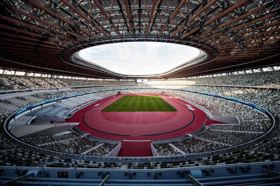 Japan National Stadium, designed by Kengo Kuma.