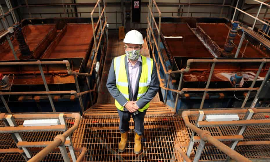 Chris Myers, the Durham County Council regeneration manager, at the Dawdon mine water treatment plant in Seaham