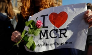 A candlelit vigil held the day after the attack, which killed 22 and injured hundreds.