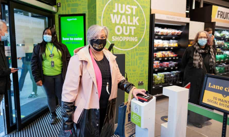 Amazon Fresh in Ealing, west London. Shoppers can pick up items and walk out of the store without the need for a till.