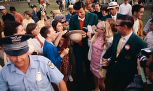 George Archer sign autographs after winning the Masters in 1969.