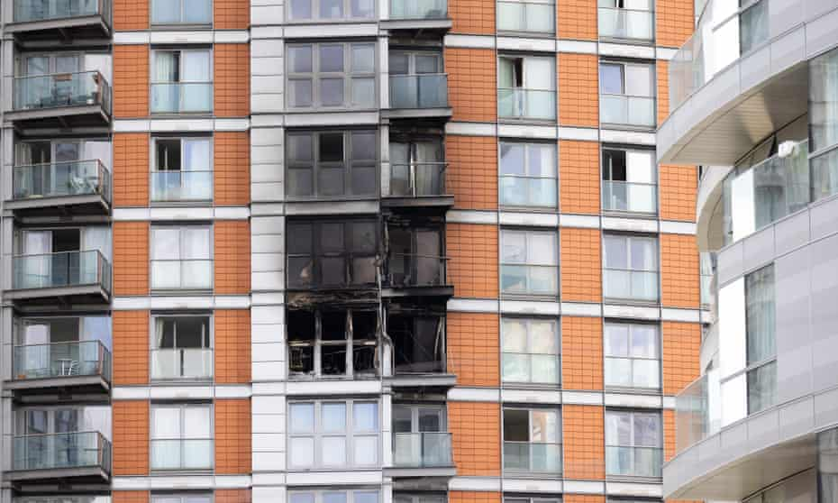 New Providence Wharf high-rise fire