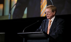 Kerry O'Brien speaks at a function