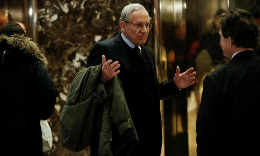 Bob Woodward seen at Trump Tower in New York in January 2017.