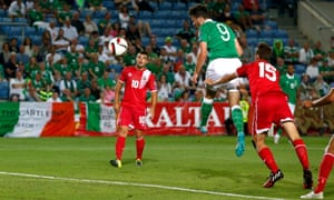 An unmarked Shane Long heads in the fourth.