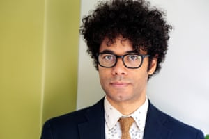 Richard Ayoade poses in West Hollywood