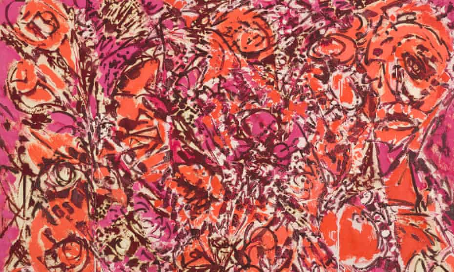 Is that face on the right Pollock's? … a detail from Icarus, in Lee Krasner: Living Colour.