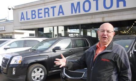 Robert Vargo at his car dealership
