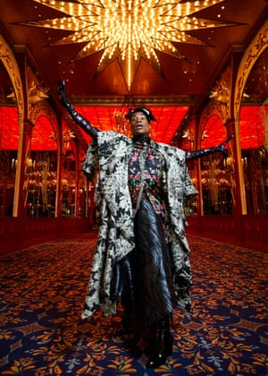 Billy Porter photographed by Heather Favell in the Russian tea Rooms Manhattan. Styled by Jo Jones, for The Fashion, September 2019 shot 1 0111RETOUCHED