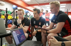 Dan Hodges, Bournemouth's head of sports science, centre, says: 'I present the results back to the players in front of everyone, so there is no hiding place.'