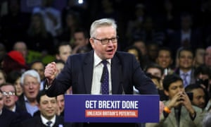 Michael Gove speaks at a final general election campaign event in London.