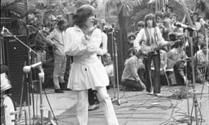 Mick Jagger wears Mr Fish at Hyde Park in 1969.