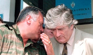 Radovan Karadžić, right, and Ratko Mladić in 1993.