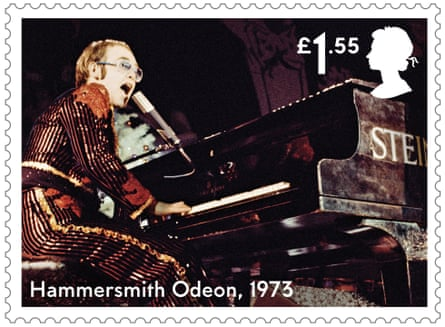 One of 12 Royal mail stamps issued as a tribute to the musical contribution of Elton John.