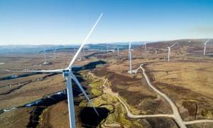 Windfarm in Inverness, Scotland