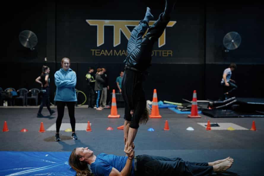 Nuova Zelanda Stunt School a St. John's, Auckland.