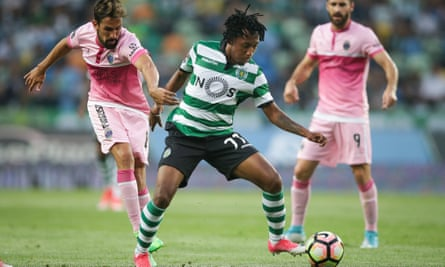 Sporting Lisbon's Gelson Martins in action last month.