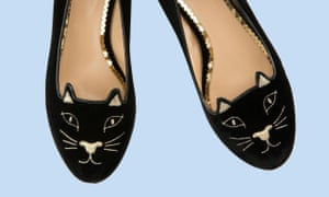 A pair of Charlotte Olympia kitty flat shoes