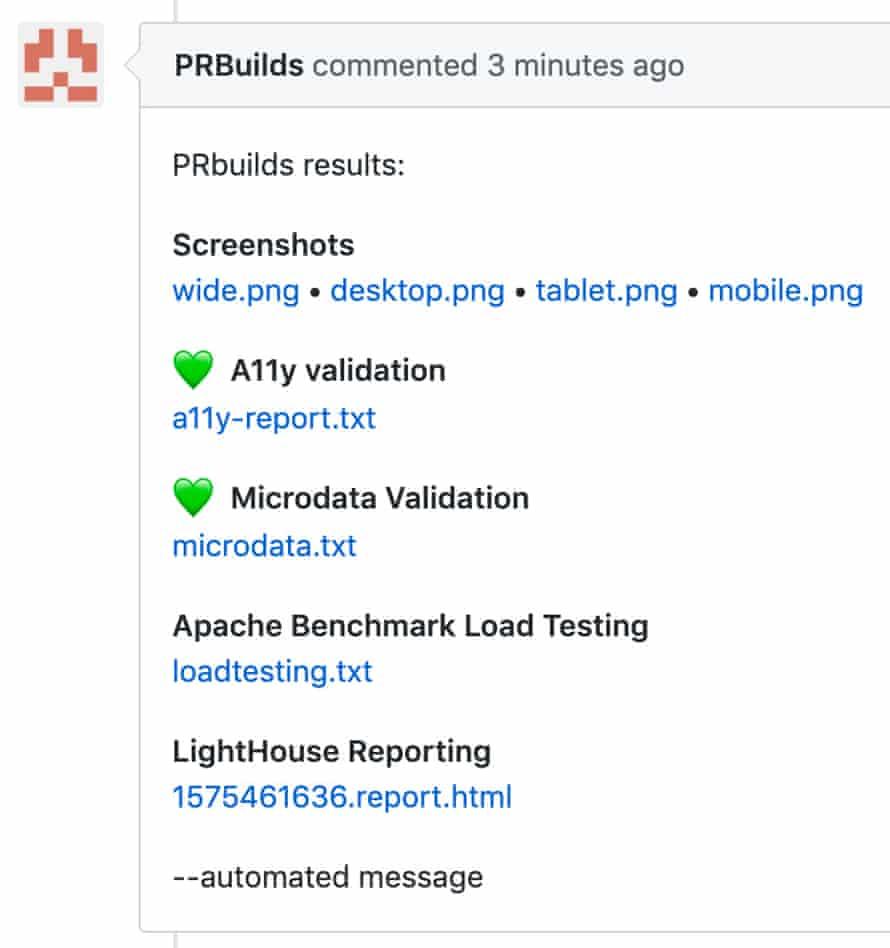 PRBuilds Screenshot
