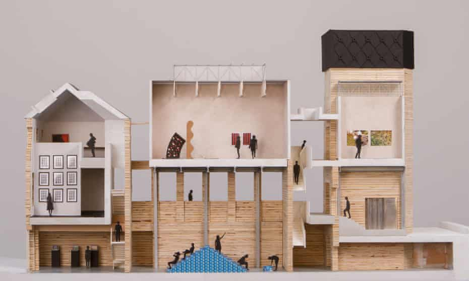 Assemble's doll's-house model of the project.