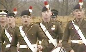 Lee Rigby drumming in his full military regalia in Windsor