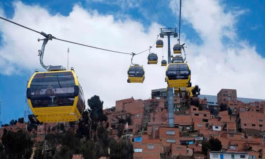 Mi Teleférico whisks local residents above the congested streets below.