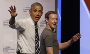 Barack Obama, Mark Zuckerberg