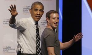 President Barack Obama and Facebook founder Mark Zuckerberg