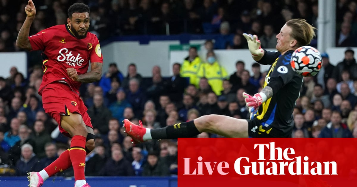 Everton 2-5 Watford, Crystal Palace 1-1 Newcastle and more: football clockwatch – live!