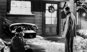 James Stewart, right, and Henry Travers in the original 1946 film It's a Wonderful Life.
