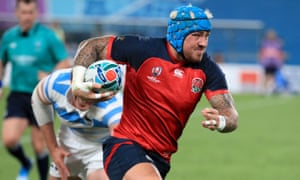 Jack Nowell playing for England.