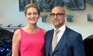 Stanley Tucci and his wife, Felicity Blunt.