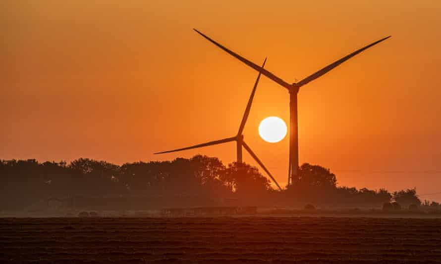 Wind turbines in North Yorkshire.