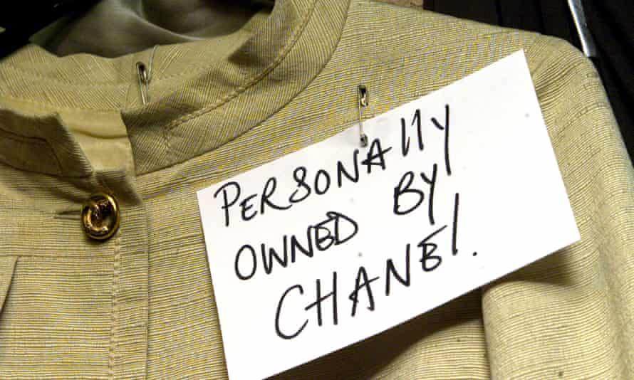 A sign in a vintage clothes shop in Chelsea, south-west London.