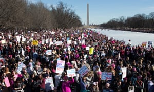 Thousands participated in the Women's March in Washington DC on 20 January 2018.