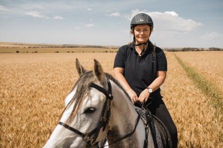 Farmer Annabelle on her horse