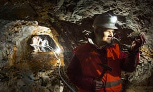 Scotgold chief executive Richard Gray in mine
