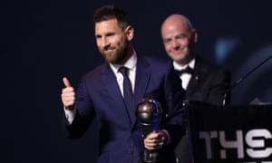 Lionel Messi has won the 2019 Fifa men's player of the year award, to go alongside his five Ballons d'Or