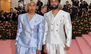 Lena Waithe, left, with the designer Kerby Jean-Raymond at the Met Gala