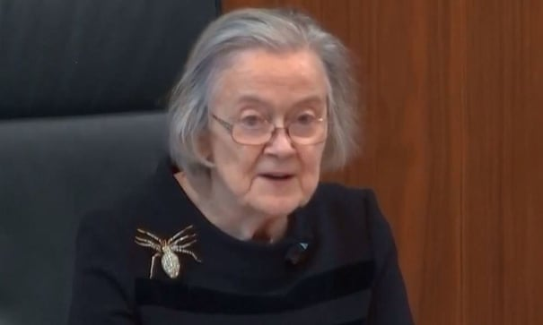 Say it with a brooch: what message was Lady Hale's spider sending?   Fashion   The Guardian