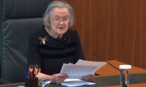 The president of the supreme court, Lady Brenda Hale, delivering the judgment on Tuesday on the prorogation of parliament