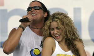 Singers Shakira and Carlos Vives perform in Leticia, Colombia