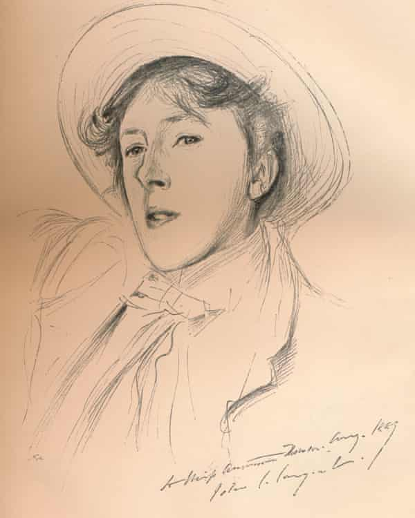 A sketch of Vernon Lee, circa 1881, by artist John Singer Sargent.