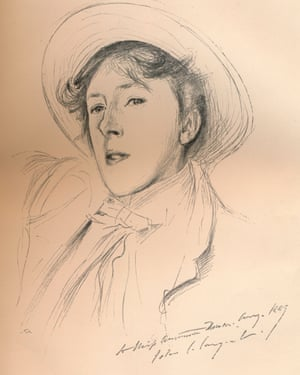 A sketch of Vernon Lee, circa 1881, by artist John Singer Sargent.