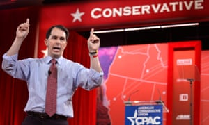 'If I can take on 100,000 protesters, I can do the same across the world,' Said Scott walker in relation to his recent dispute with Wisconsin's public unions.