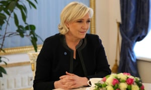 Marine Le Pen meets Vladimir Putin in Moscow on Friday.