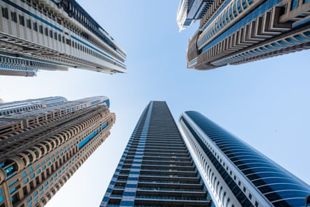 Ocean Heights and other skyscrapers in Dubai