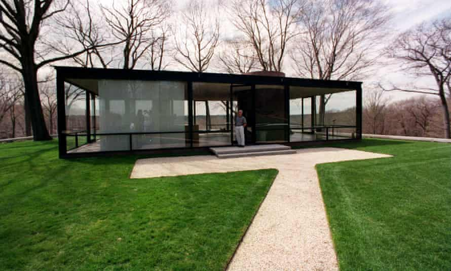 Johnson designed the 'Glass House' in New Canaan, Connecticut, and lived there until his death in 2005.