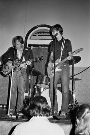 Grant McLennan and Robert Forster at an early Go-Betweens performance at Baroona Hall, Caxton Street in 1978